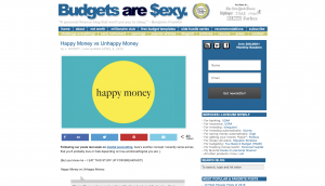 Budgets are $exy. – Happy Money vs Unhappy Money